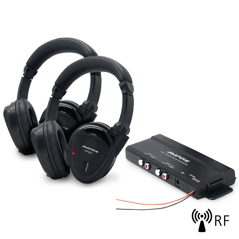 Ampire HP401-SET Ασύρματα Ακουστικά Αυτοκινήτου με Ραδιοπομπό (Σετ)