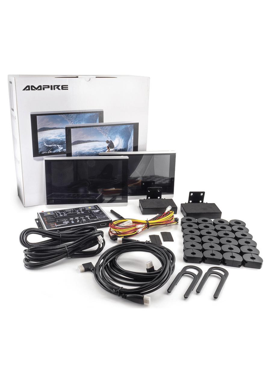 Ampire AMX090-4K Οθόνες Κεφαλής Καθισμάτων 9″ με Android Box (Ζευγάρι)