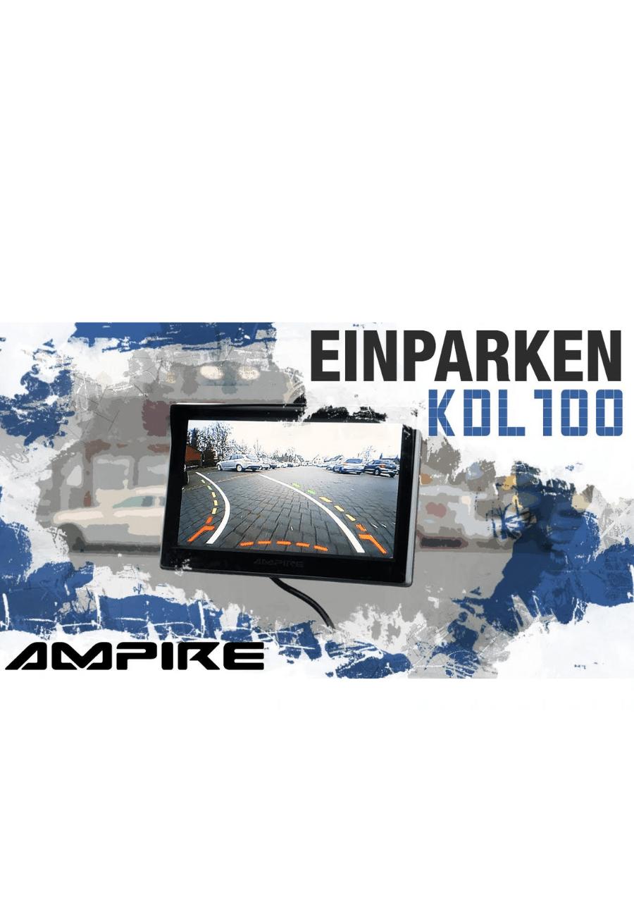 Ampire KDL100 Μαύρη Κάμερα Οπισθοπορείας για Αυτοκίνητα (Τεμάχιο)