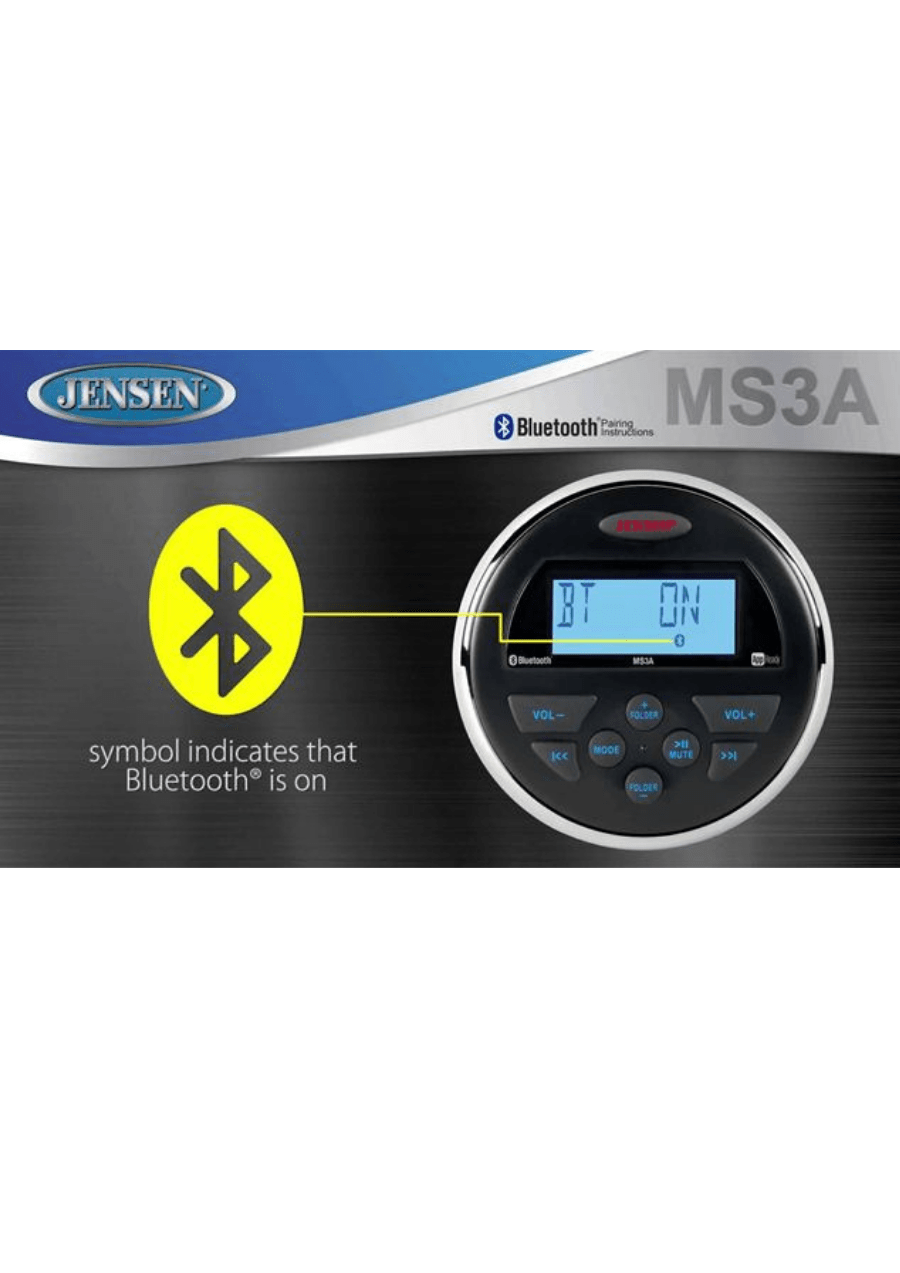 Jensen MS3A Πηγή Ήχου Marine (Τεμάχιο)