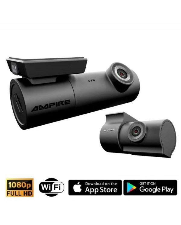 Ampire DC2 Full HD Διπλή Dash Κάμερα Καταγραφής Για Μπρος και Πίσω Παρμπρίζ Αυτοκινήτου με GPS/WiFi/MicroSD(Τεμάχιο)