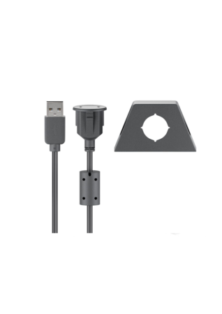 Ampire XUB060 Καλώδιο Επέκτασης USB 2.0 με Υποδοχή (60cm)