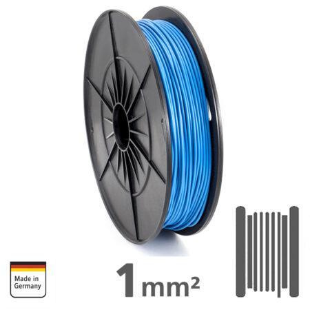 Καλώδιο ενιαίου πυρήνα AMPIRE, μπλε 1mm² / 18 AWG, ρολό 120m, χαλκός