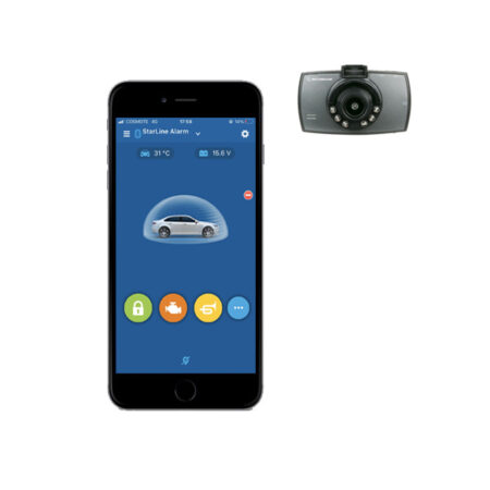 StarLine E9-CAM (E9 Mini) Σύστημα ασφαλείας CanBus και καταγραφή μέσω κάμερας Scosche