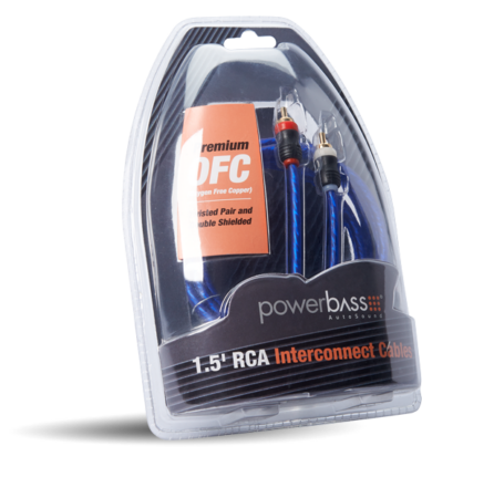Powerbass ARCA-1.5 Καλώδιο RCA - RCA 45CM (Τεμάχιο)