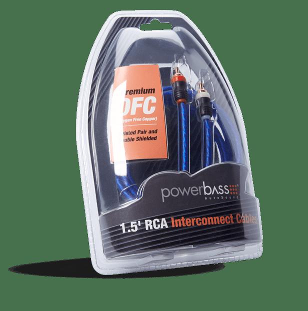 Powerbass ARCA-1.5 Καλώδιο RCA – RCA 45CM (Τεμάχιο)